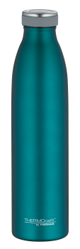 Isolierflasche THERMOcafé 0,75 Ltr. Edelstahl teal